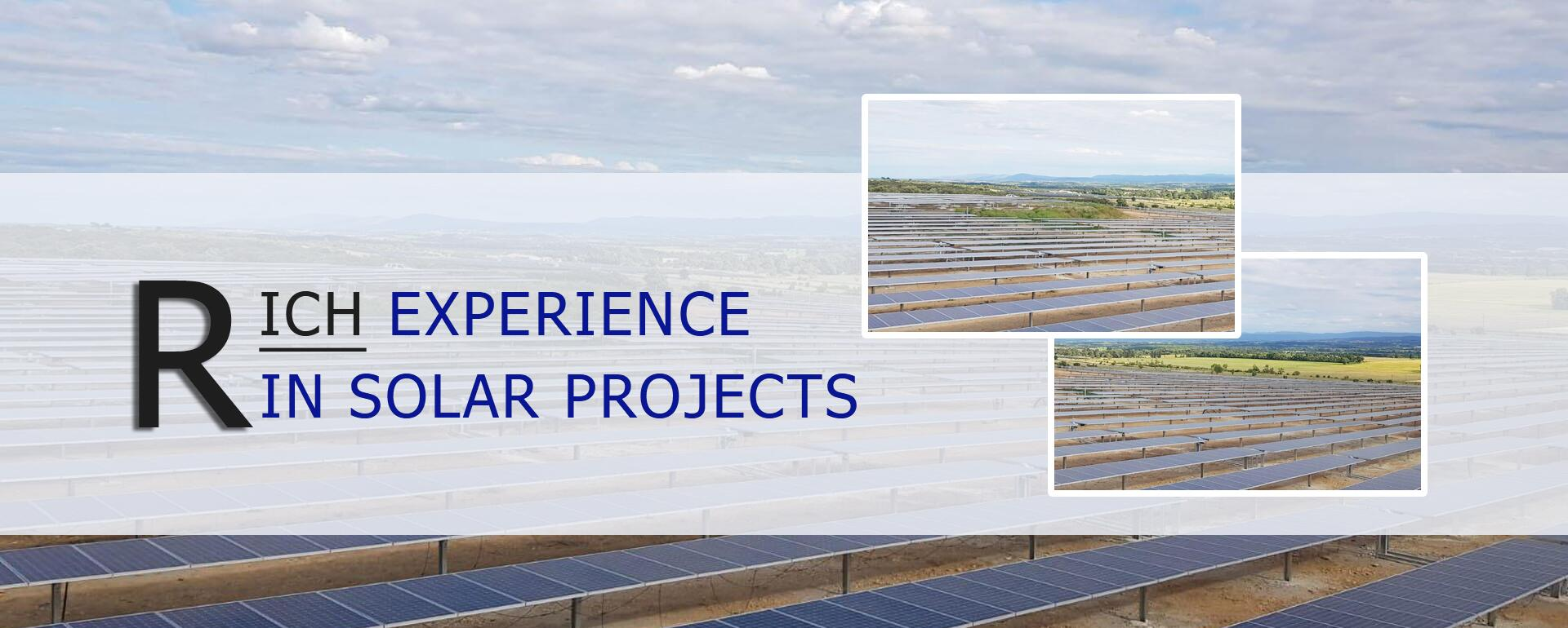 rich experience in solar projects section steel